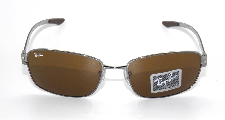 b2713306031 Ray Ban Tech RB 8308 Gunmetal Carbon Fiber Frame Brown Lens Sunglasses   Amazon.ca  Clothing   Accessories
