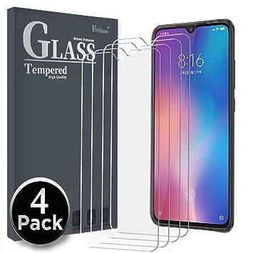 Ferilinso Cristal Templado para Xiaomi Mi 9, [4 Pack] Protector de Pantalla Screen Protector para Cristal Templado Xiaomi Mi 9