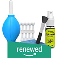 (Renewed) Gizga Essentials GZ-CK-104 Professional 6-in-1 Cleaning Kit (Air Blower, Cotton Swabs, Suede + Plush Micro-Fiber Cloth, Brush,Cleaning Solution)