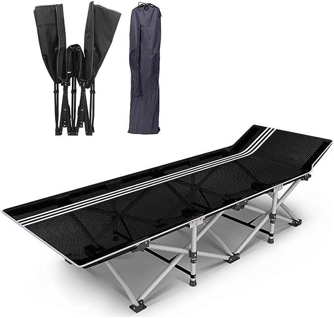 GLLT Cama Plegable for Camping, Cama Plegable Individual ...