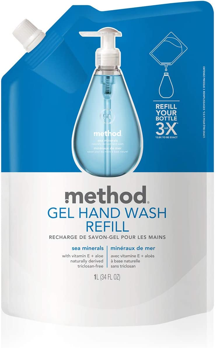 Method Gel Hand Soap Refill, Sea Minerals, 34 Ounce