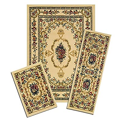 Achim Capri 3 Piece Savonnerie Indoor Rug Set