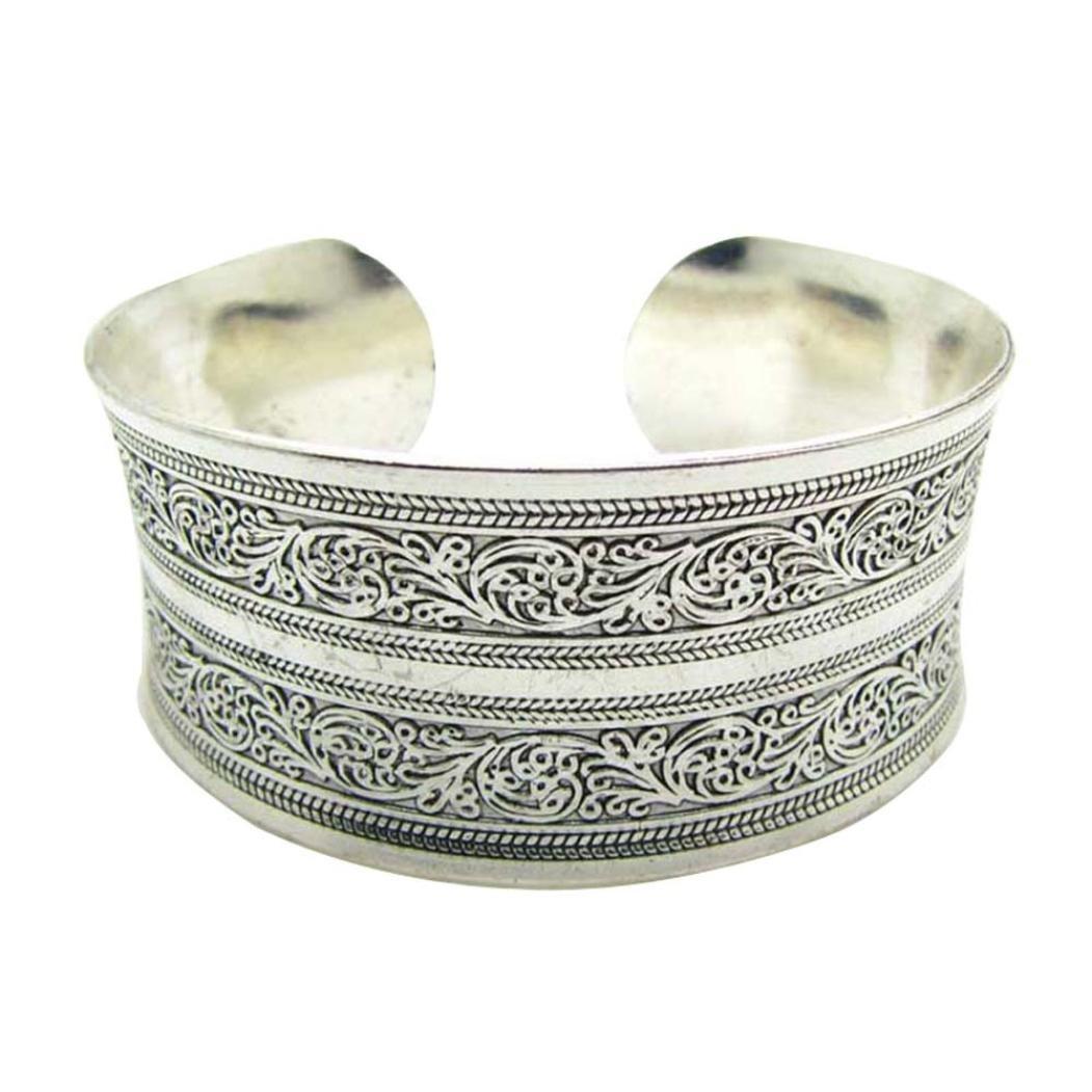 Swyss Tibetan Tibet Totem Bangle Retro Cuff Wide Bracelet Personality Chic Jewelry New HOT Fashion