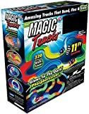 TBAO Magic Track Race Track Dark Racer Bend Flex Roll Glow with Truck and Car Set… (220)