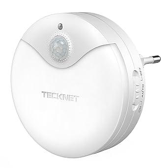TECKNET LED Nachtlicht, LED Wandleuchten Für Steckdose Mit Dämmerungssensor und Bewegungsmelder Kind Baby Senioren Steckdosen