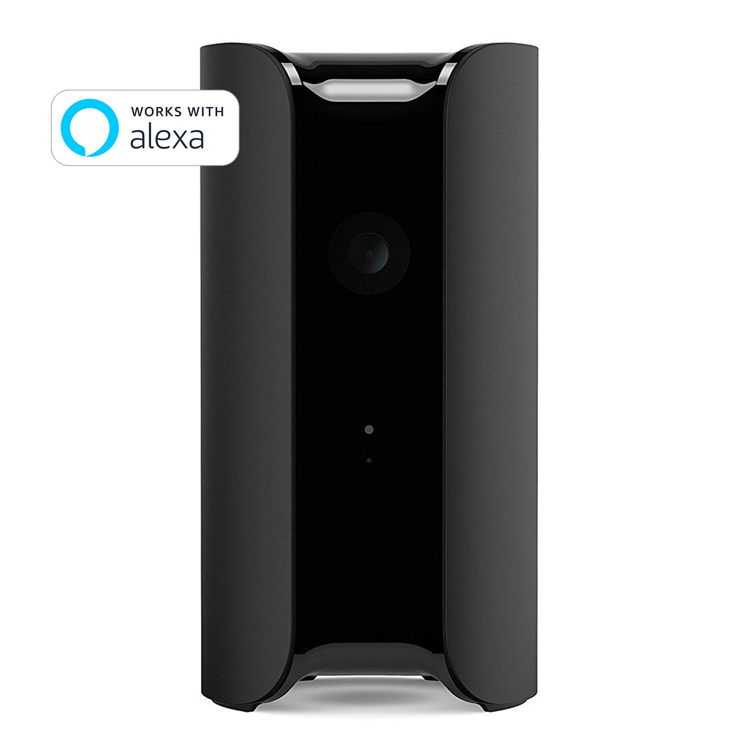 CANARY (CAN100USBK) All-in-One Indoor 1080p HD Security Camera with Built-in Siren and Climate Monitor, Motion / Person / Air Quality Alerts, Works with Alexa, Insurance Discount Eligible - Black by Canary