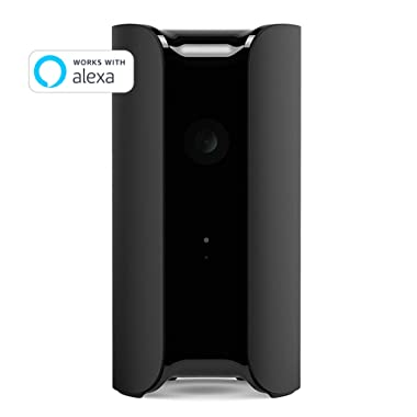 CANARY (CAN100USBK) All-in-One Indoor 1080p HD Security Camera with Built-in Siren and Climate Monitor, Motion / Person / Air Quality Alerts, Works with Alexa, Insurance Discount Eligible - Black