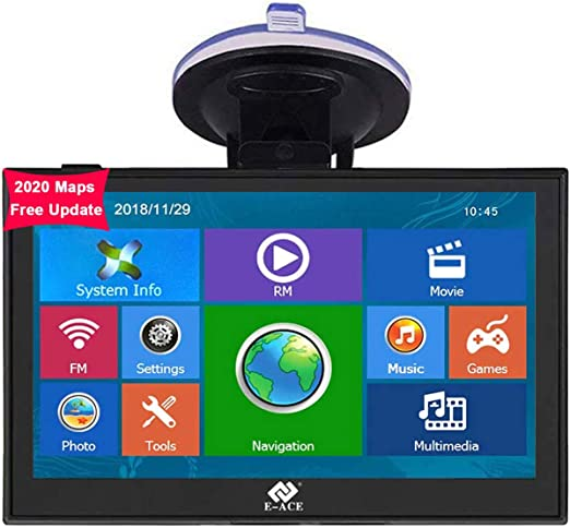 and pre-Installed The Latest North American map for 2020 in 30 Languages. Car GPS Navigation 9-inch high-Definition GPS Navigation 256-8GB Voice Broadcast Navigation