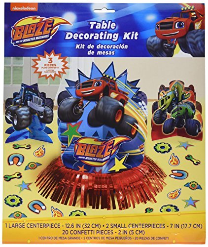 AMSCAN Blaze and the Monster Machines Table Decorating Kit