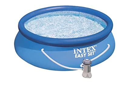 a667a3a8e8241 Image Unavailable. Image not available for. Color  8  039  x 30 quot  Intex  Easy Set Above Ground Swimming Pool with Filter
