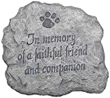 Outdoor Decor 8822883zz Decorative In Memory Of A Faithful Friend And Companion Stepping Stone For Sale