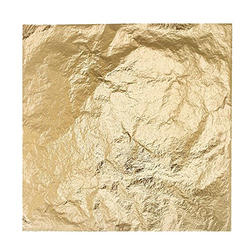 Bullet Face 100 Sheets 5.5 by 5.5 Inches Imitation Gold Leaf Foil Paper for Arts, Gilding Crafting, Decoration DIY - Bullet Ceiling