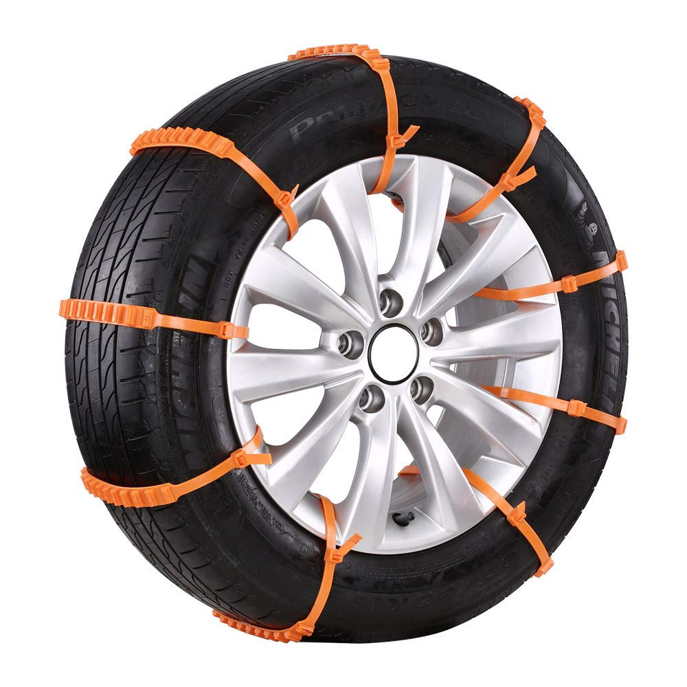 GSYDXL 20 Pcs Nylon Snow Chains Winter Tire Snow Chains Wheels For Cars/Car Suv-Style Anti-Skid Autocross Outdoor