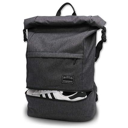 8217d1b100c42d Travel Laptop Backpack, ITSHINY Rucksack Anti-Theft Laptop Bag Roll Top  School Bag Water