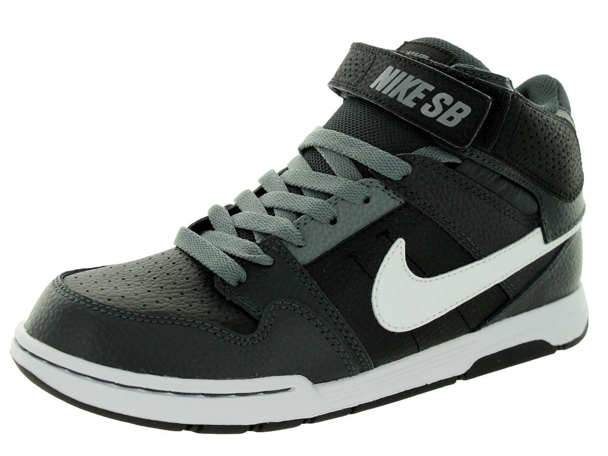 NIKE Kids' Mogan Mid 2 Jr Skateboarding Shoes 5 M US Big Kid Black/White/Anthracite