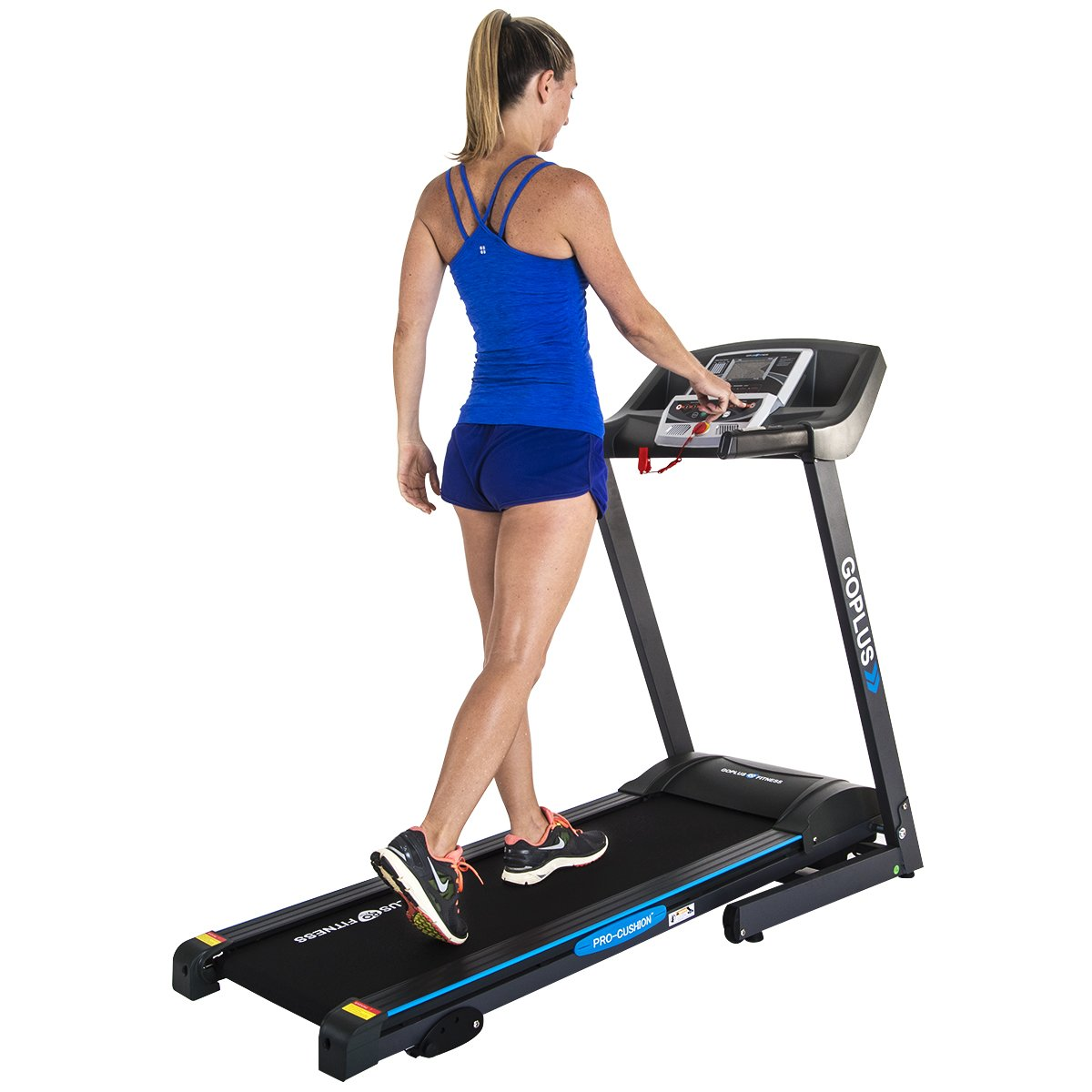 Goplus 2.25HP Folding Treadmill Electric Support Motorized Power Running Fitness Jogging Incline Machine g Fitness Jogging Incline Machine Fitness Jogging Incline Machine Black Jaguar Ⅱ(Classic) by Goplus (Image #2)