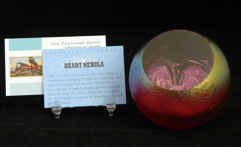Glass Eye Studio Celestial Series Heart Nebula Paperweight