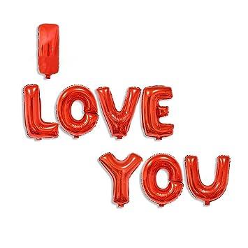 Cadillaps Alphabet Letters Foil Membrane Balloons I LOVE YOU Party
