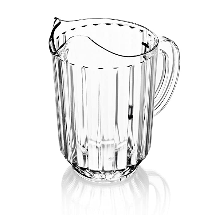 New Star Foodservice 46106 Polycarbonate Plastic Restaurant Water Pitcher, 60-Ounce, Clear