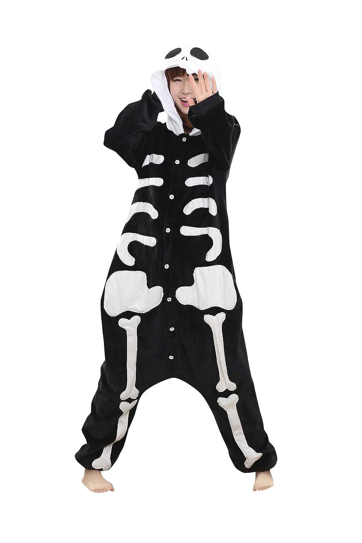 e2886524c6 Amazon.com  AOFITEE Unisex Skeleton Animal Onesie Pajamas Adult Sleepwear  Cosplay Costumes  Clothing