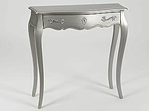 Amadeus Console 1 tiroir Murano Argent New Silver