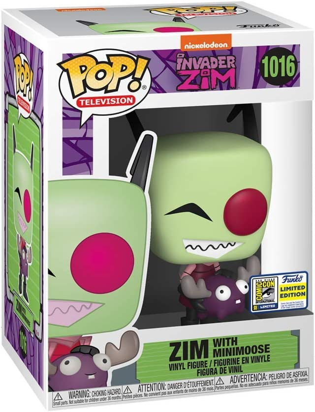 2020 Summer Convention Exclusive Funko Pop Animation #1016 Invader Zim with Minimoose