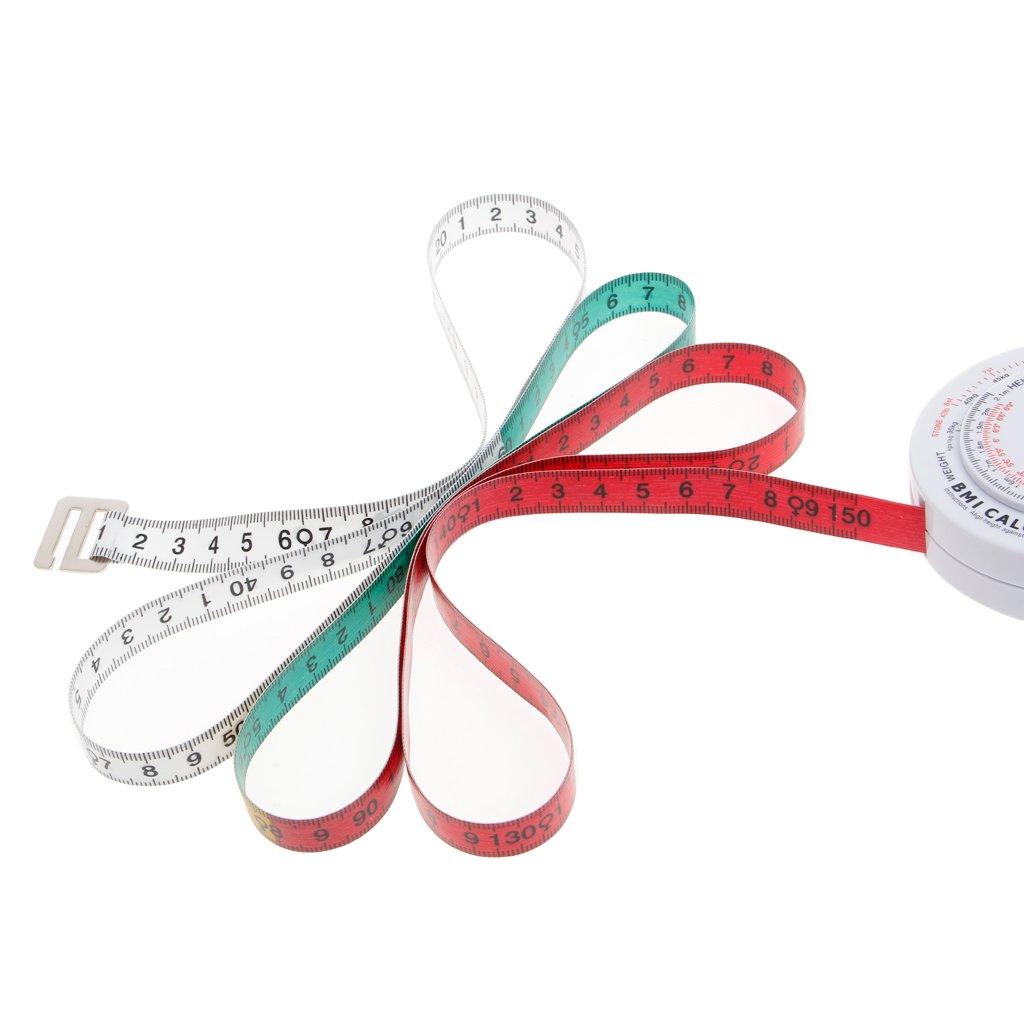 Manyo IMC Indice de masse corporelle Ruban r/étractable 150cm Calculatrice de mesure R/égime Perte de poids Outils
