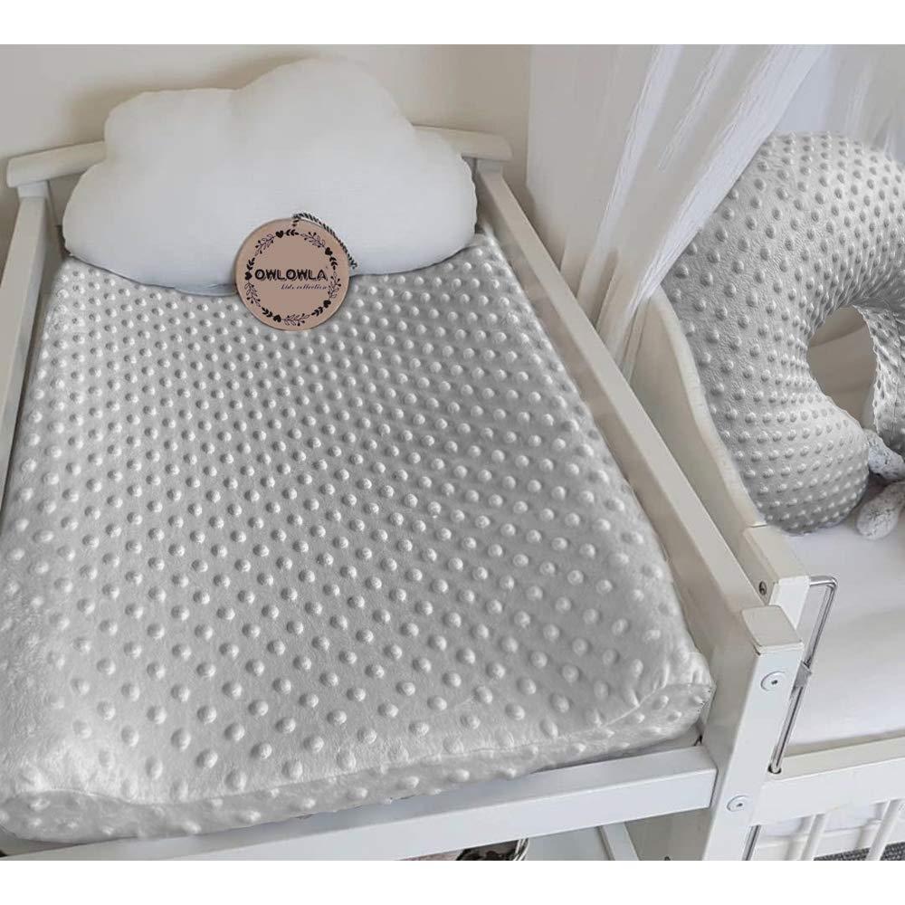 Silver Gray//Navy Owlowla 2Pack Nursing Pillow Cover Grey/&Navy Nursing Pillow Covers Set Breastfeeding Pillow Slipcover Fits Naked Nursing Pillow for Baby Boy Girl