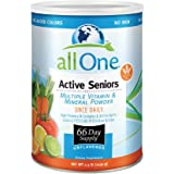 allOne Multiple Vitamin & Mineral Powder, For Active Seniors   Once Daily Multivitamin, Mineral & Amino Acid Supplement w/ 4g Protein   66 Servings