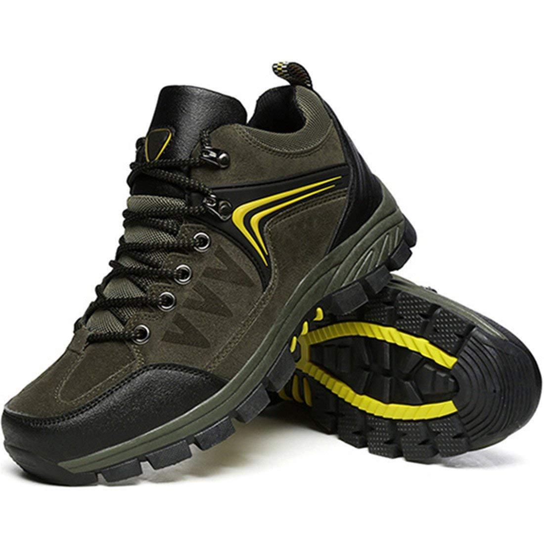 Mens Hiker Shoes Winter Waterproof Hiking Boot for Outdoor Mountaineering