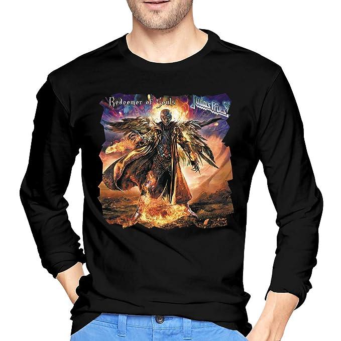 MarshallD Men s Judas Priest Redeemer of Souls Cotton Long Sleeve Tshirt  Black S 20583c679