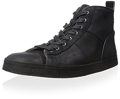 fb45468e7a2 Amazon.com  John Varvatos Men s Mick Sneaker HI Black Oxford  Shoes