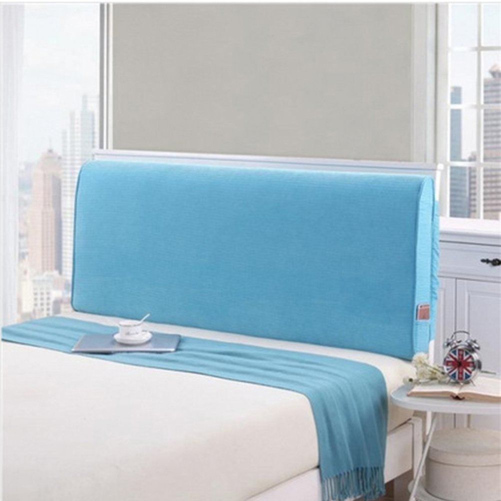 YXCSELL Large Upholstered Headboard Filled Triangular Soft Wedge Cushion Backrest Positioning Support Reading Pillow Lumbar Pad for Sofa Bed with Removable Cover Sky Blue 79x4x24 Inches