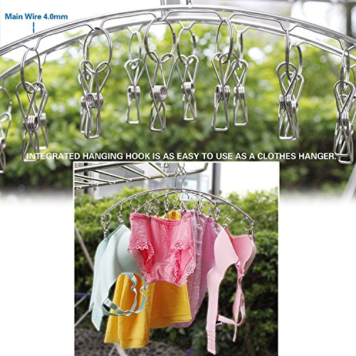 KEREITH 3Pack Sock Dryer Hanger Laundry Drying Rack Indoor Outdoor Drip Hanger with 10 Pegs Drying Towels, Diapers, Baby Clothes,Underwear, Glves,Delicate Bras(3pack laundry pegs) by KEREITH (Image #4)