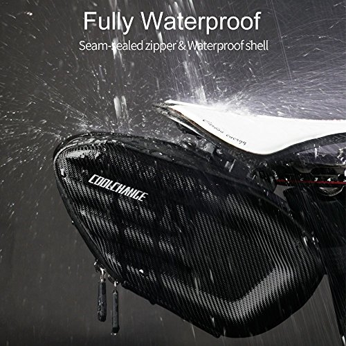 Cool Change Bike Saddle Bag Fully Waterproof | 2L Large Capacity | Tough EVA 3D Shell | Buckle Install Cycling Bag by Cool Change (Image #4)