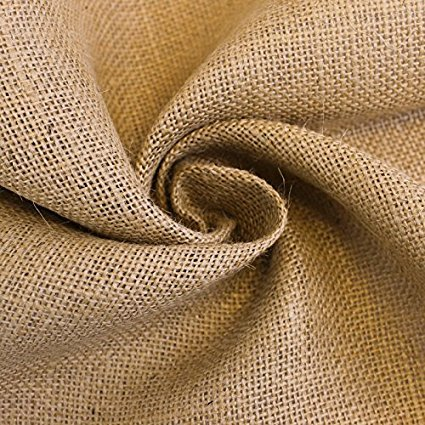 AK-Trading 90-Inch Wide Natural Burlap Fabric - Perfect for Weddings, Events, Home, Crafts, Gardening (90'' Wide x 25 Yards Roll) by AK TRADING CO. (Image #1)
