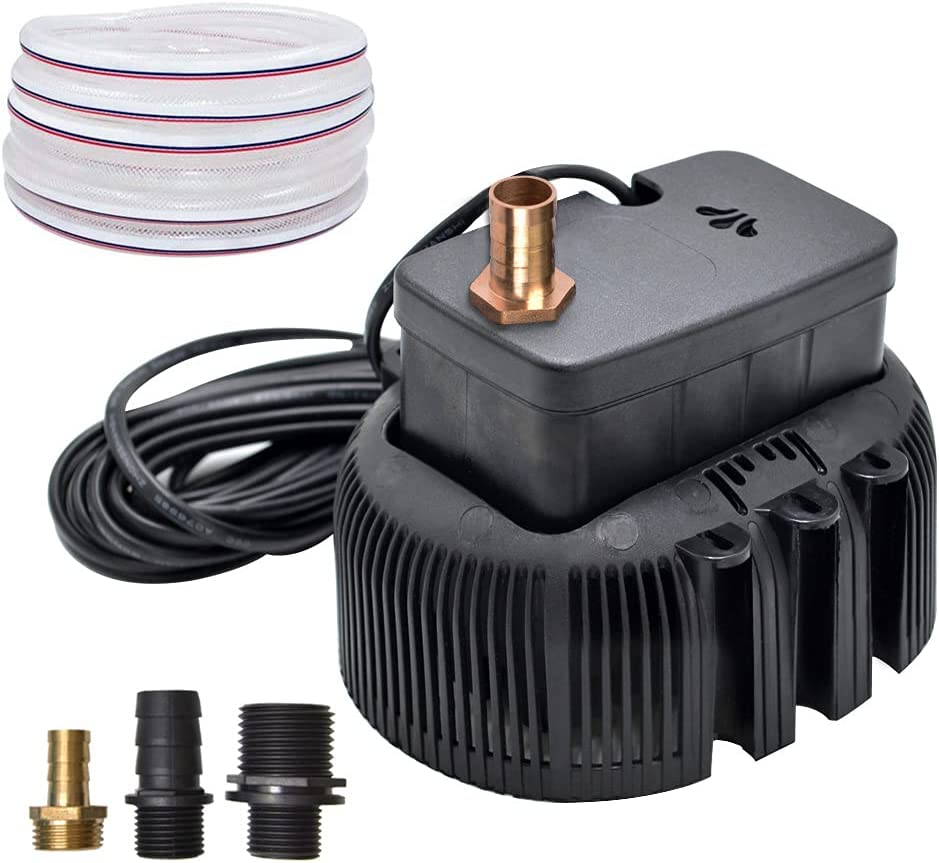 Swimming Pool Cover Pump 850 GPH Submersible Sump Pumps Above Ground with 3 Adapters Drainage Hose 25 ft Power Cord (Black)
