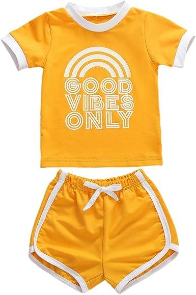 Toddler Baby Boy Clothes T-Shirt Tank Top+Short Pants 2PCS Outfits Set