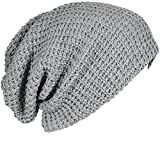 13ee6a4c0fa FORBUSITE Mens Slouchy Long Oversized Beanie Knit Cap for Summer Winter B08  (Light Gray)