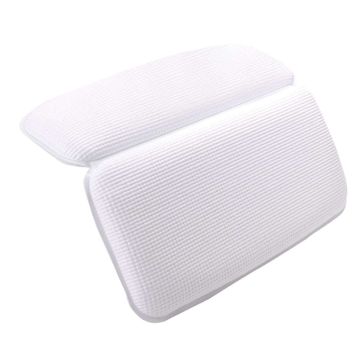 Oreiller de bain Spa Confort antidérapant support rembourré Taie d'oreiller pour baignoire Spa pour tête et cou, dos et des épaules (A) EZESO CO. LTD