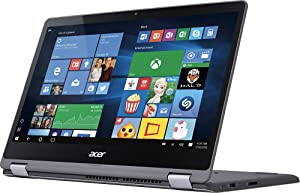 2017 Acer Aspire R15 2-in-1 15.6-Inch Full HD IPS Touchscreen High Performance Laptop PC, Intel Core i5-7200U 2.5GHz, 8GB RAM, 1TB HDD, Backlit Keyboard, Bluetooth, Wi-Fi, HDMI, Windows 10, Steel Gray