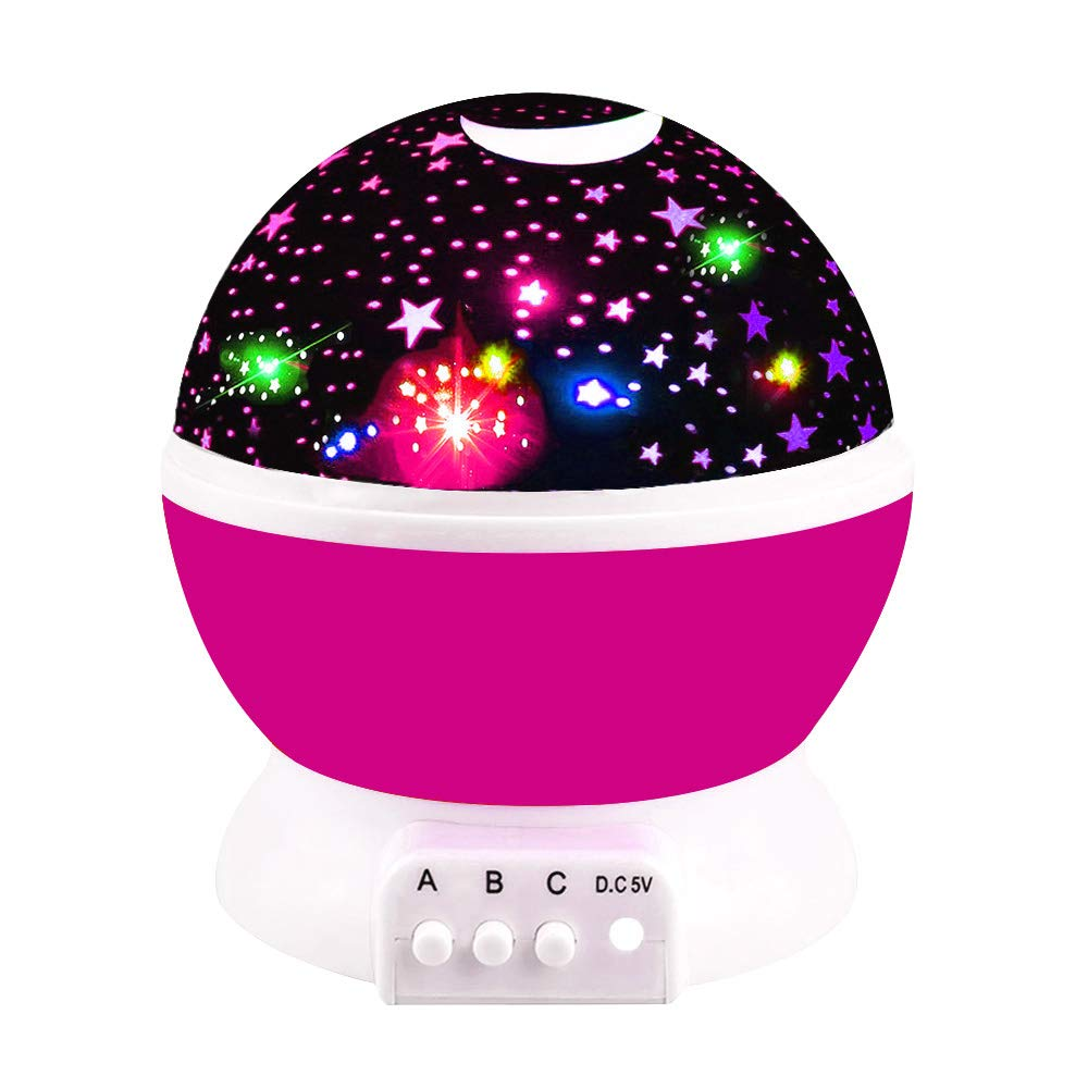Tisy Magical Birthday Gifts Present for 2-10 Year Old Girls, Wonderful Quiet Romantic Starlight for Kids Toys for 2-10 Year Old Boys Gifts for 2-10 Year Old Boys Pink TSUSXK03