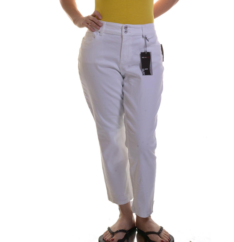 STYLE CO. CURVY-FIT CAPRI PANTS BRIGHT WHITE 12 Online