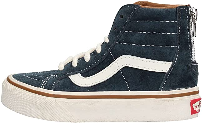 Vans Scarpe SK8 Hi Zip Kid – Blu, Blu (Blu), 34.5 EU: Amazon