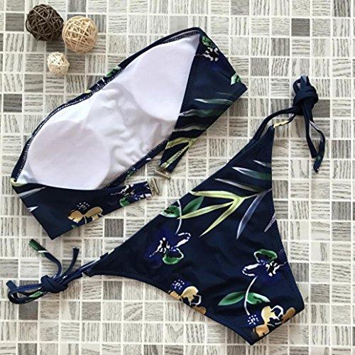 Spiaggia Costume Sexy stampa Beachwear Donna con reggiseno Costume Push up intero da a fascia Costumi Bikini da Imbottito bagno Sysnant Bagno rwTPCqraS