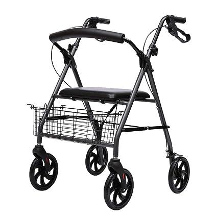 Andador plegable con asiento y ruedas para andar con marcos ...