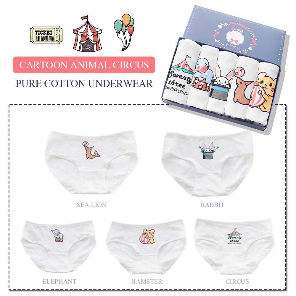 TOMORI Womens Cute Anime Panties Schoolgirl Breathable Cotton Underwear Animal Printing Briefs