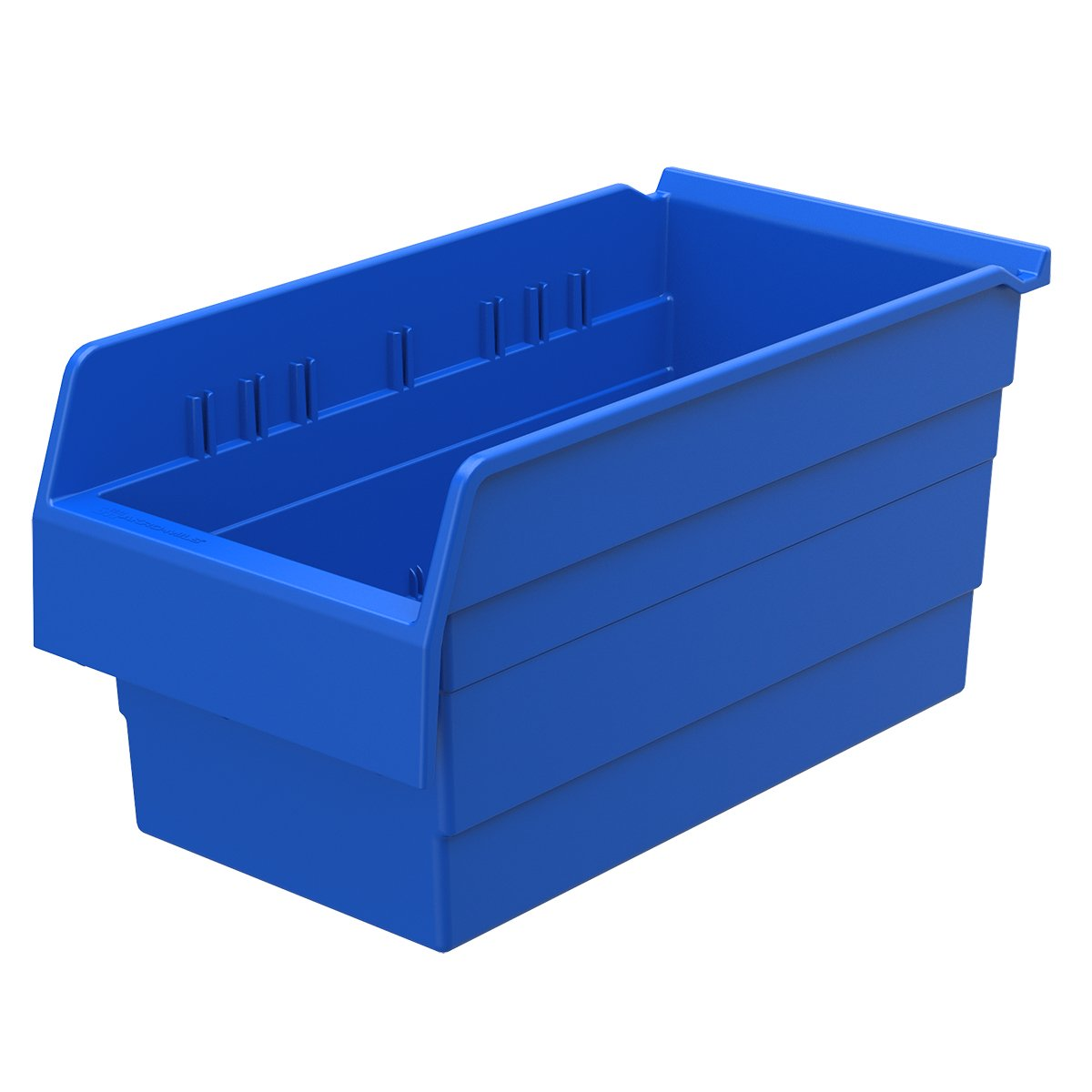 Akro-Mils 30886 ShelfMax 8 Plastic Nesting Shelf Bin Box, 16-Inch x 8-Inch x 8-Inch, Blue, 8-Pack