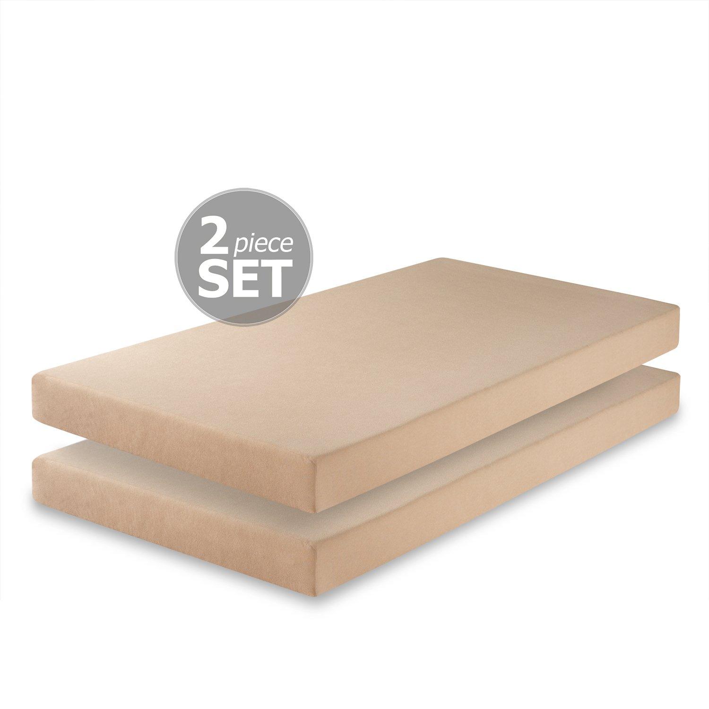 Amazon Zinus Memory Foam 5 Inch Twin Mattress Set of 2