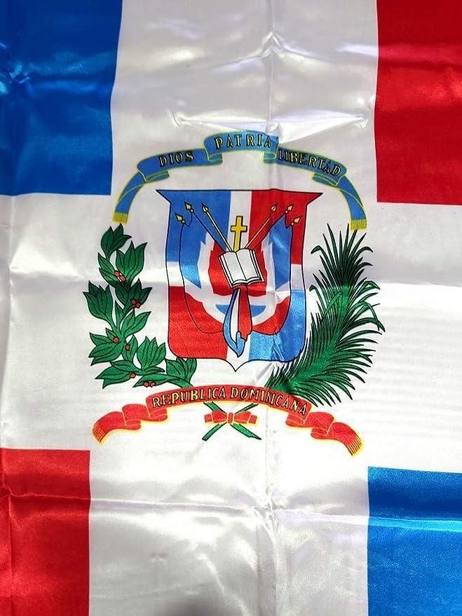 BANDERA REPUBLICA DOMINICANA GRANDE 150 Cm 1,5 Metros: Amazon.es: Hogar